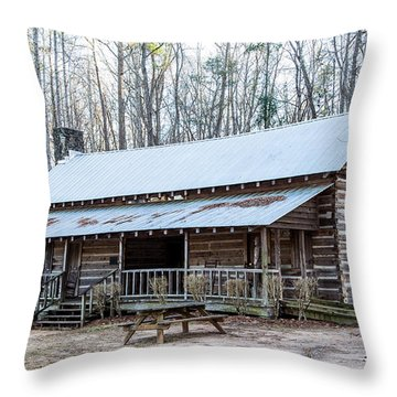 Park Ranger Cabin Throw Pillow
