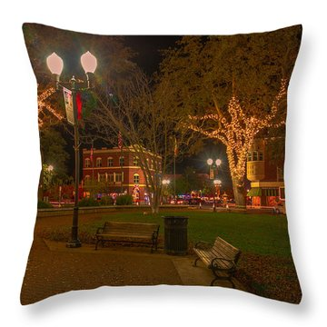 Park Scene Throw Pillow