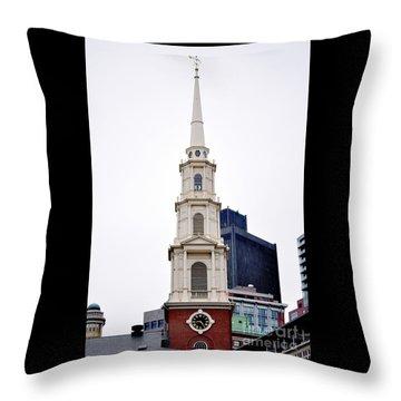 Park Street Church Boston Massachusetts Throw Pillow