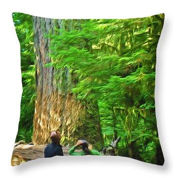 Park Visitors Throw Pillow