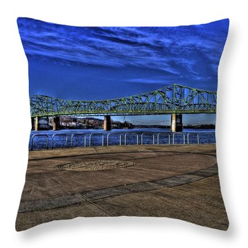 Throw Pillow featuring the photograph Parkersburg Point Park by Jonny D