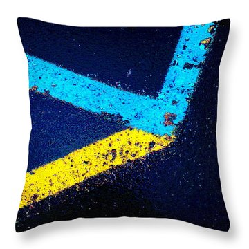 Throw Pillow featuring the photograph Parking Lot by Daniel Thompson
