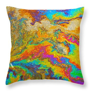Parking Lot Tie-dye Throw Pillow