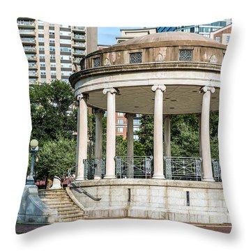 Parkman Bandstand In Boston Public Garden Throw Pillow