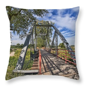 Throw Pillow featuring the photograph Parkville Missouri by Liane Wright