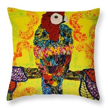 Parrot Oshun Throw Pillow
