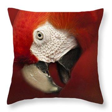Parrot Portrait Throw Pillow