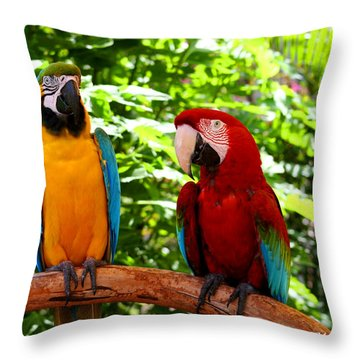 Parrot's Perch Throw Pillow