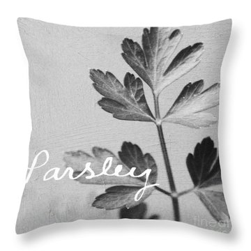 Parsley Throw Pillow by Linda Woods