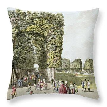 Part Of The Garden At Ausgarten Throw Pillow by Johann Ziegler