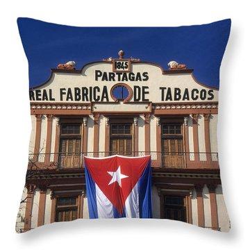 Partagas Cigar Factory Throw Pillow