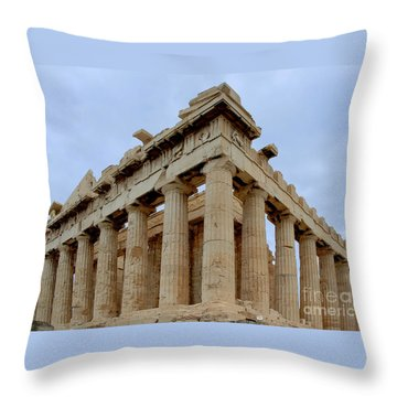 Parthenon Corner Throw Pillow