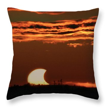 Pac-man Sun Throw Pillow