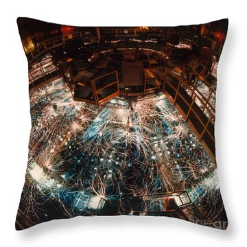 Particle Accelerator Throw Pillow by Science Source