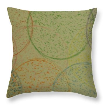 Particles Of Light Throw Pillow