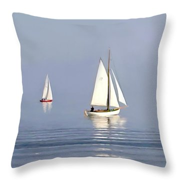 Parting Fog Throw Pillow by Paul Tagliamonte