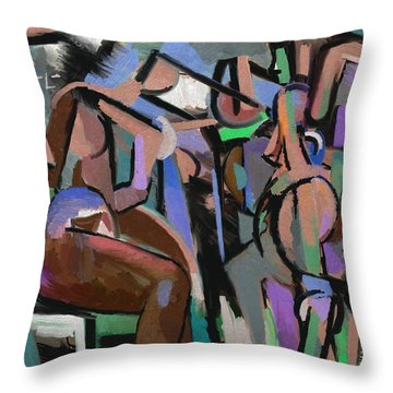 Throw Pillow featuring the digital art Partita by Clyde Semler