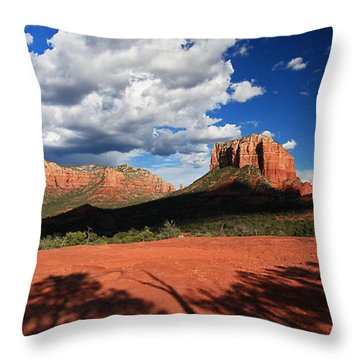 Partly Cloudy With A Chance Of Scenery Throw Pillow