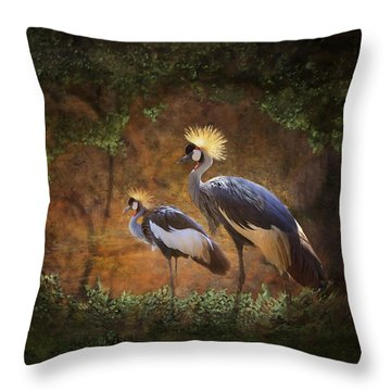 Partners In Paradise Throw Pillow