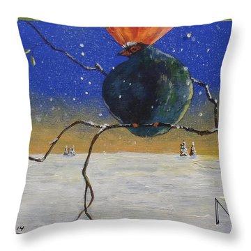 Partridge Perch Throw Pillow