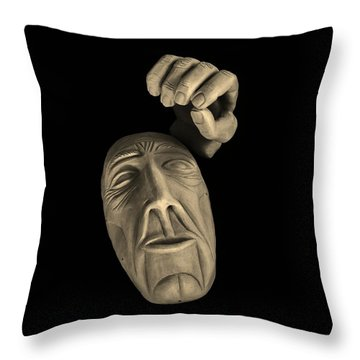 Throw Pillow featuring the sculpture Parts Of The Whole by Barbara St Jean