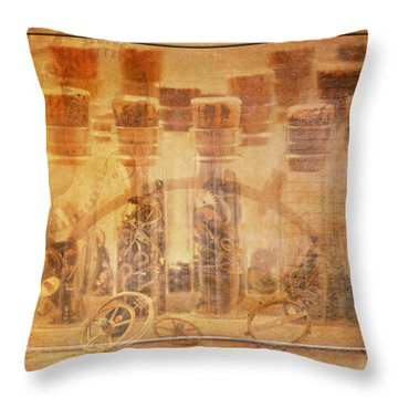 Parts Of Time Throw Pillow