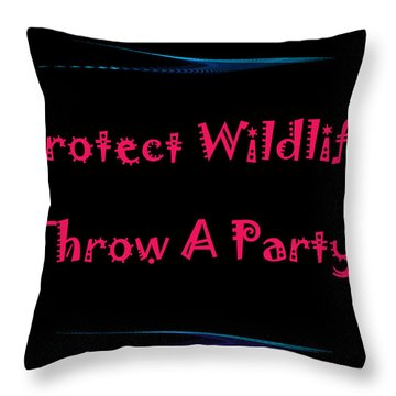 Party 4 Throw Pillow by Aimee L Maher Photography and Art Visit ALMGallerydotcom