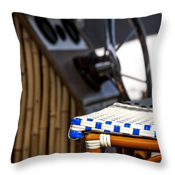 Party Boat Throw Pillow by Robert Smith