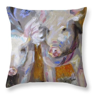 Party Ears II Throw Pillow