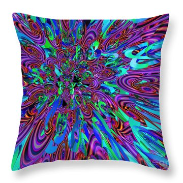 Party Throw Pillow by First Star Art