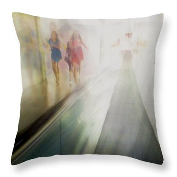 Throw Pillow featuring the photograph Party Girls by Alex Lapidus