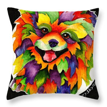 Party Pom Throw Pillow by Sherry Shipley