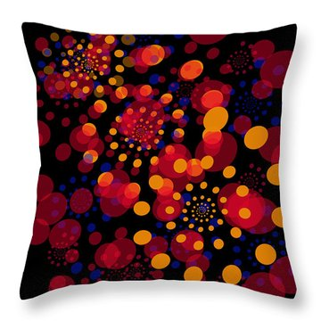 Party Time Abstract Painting Throw Pillow by Claudia Ellis