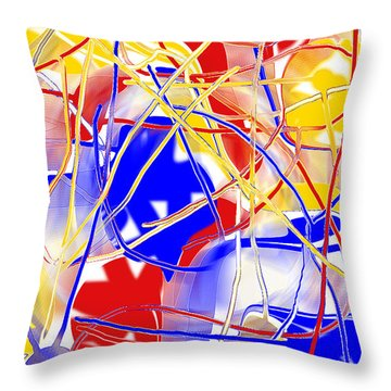 Throw Pillow featuring the digital art Party Time Ip by rd Erickson