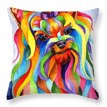 Party Yorky Throw Pillow