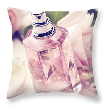 Parume Bottle Throw Pillow