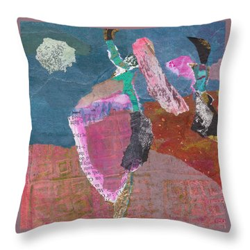 Throw Pillow featuring the mixed media Pas De Deux by Catherine Redmayne