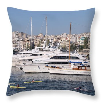 Pasalimani Port Throw Pillow