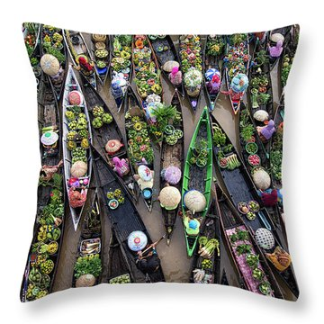 Market Throw Pillows