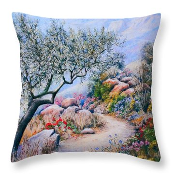 Paseo De Flores Throw Pillow