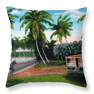 Paseo Por La Isla Throw Pillow by Luis F Rodriguez