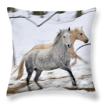 Paso Fino Mares Take Flight Throw Pillow by Patricia Keller