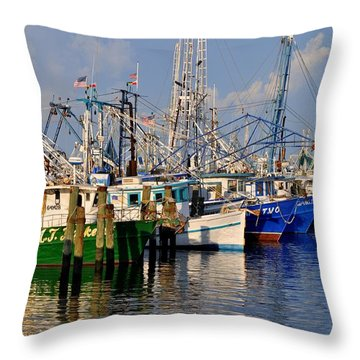Pass Christian Harbor Throw Pillow