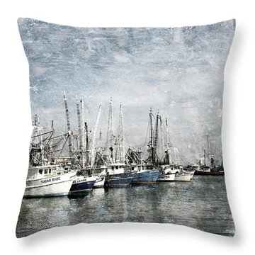 Pass Christian Harbor Throw Pillow by Joan McCool