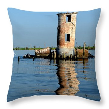 Pass Manchac Lighthouse Throw Pillow