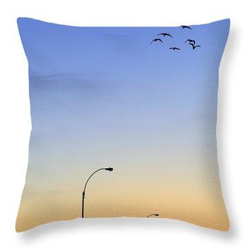 Passage Into Dawn Throw Pillow