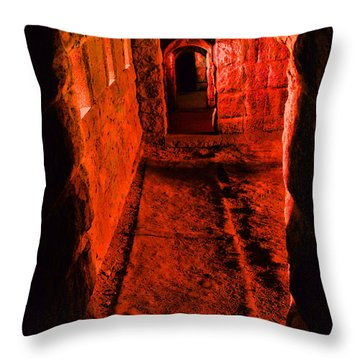 Passage To Hell Throw Pillow by Karol Livote