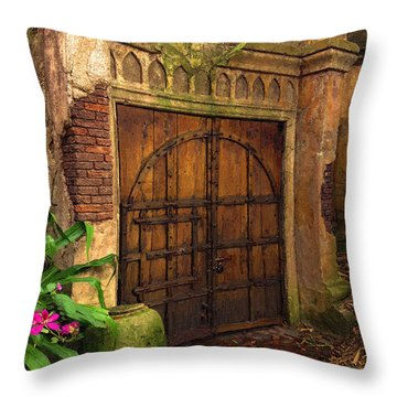 Throw Pillow featuring the painting Passage To The Past by Doug Kreuger