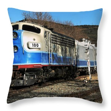 Throw Pillow featuring the photograph Passenger Train by Michael Gordon