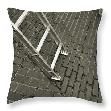Passerbys Throw Pillow